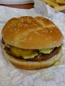 Parker's Drive-In Jumbo Burger is Average
