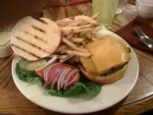 Half Pound Burger at Lamplight Restaurant in Monticello, UT