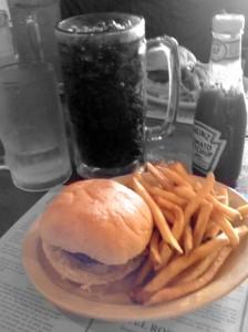 Porter's Buffalo Burger Meal