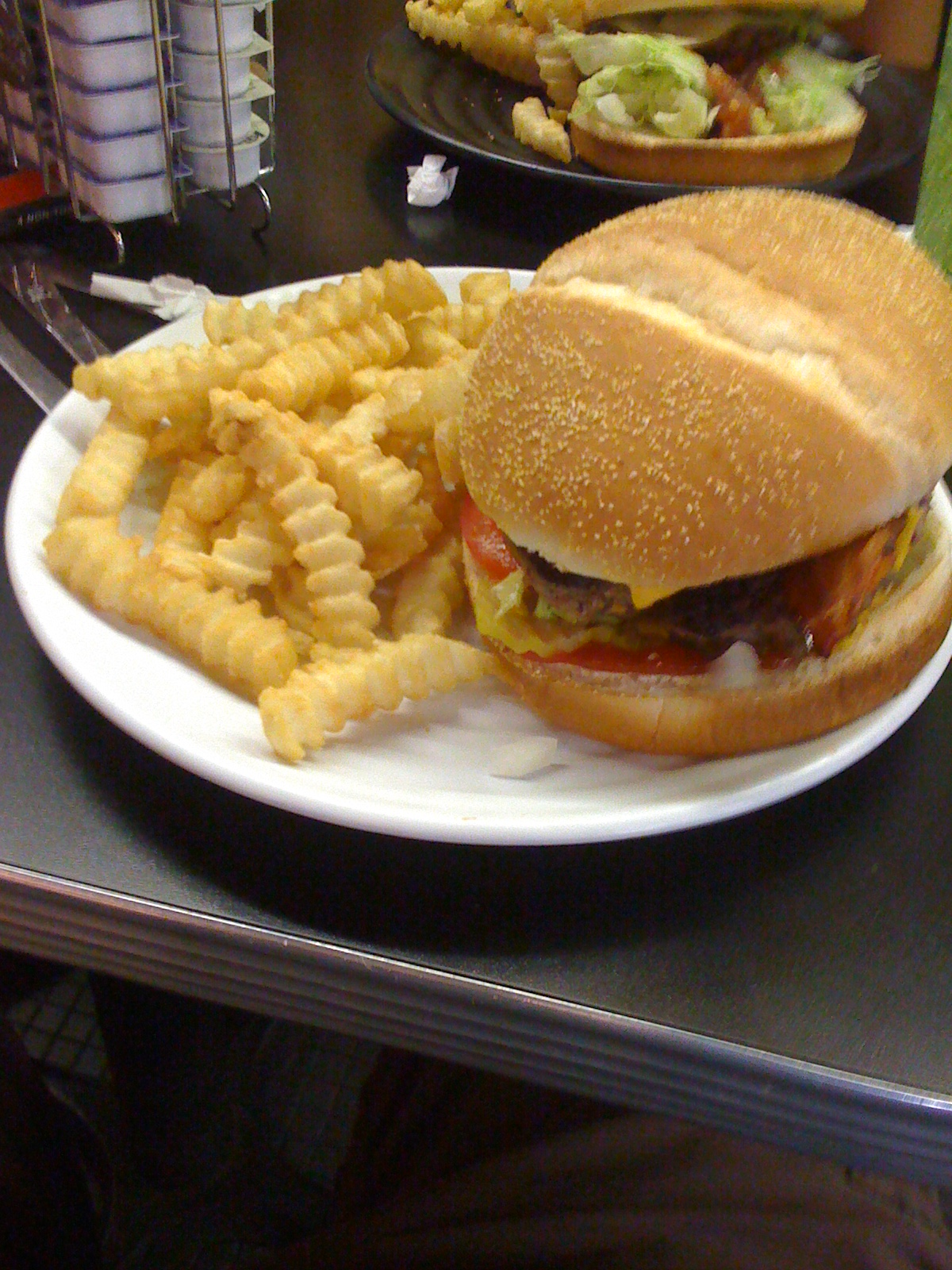 Hamburg Inn Bacon Cheeseburger