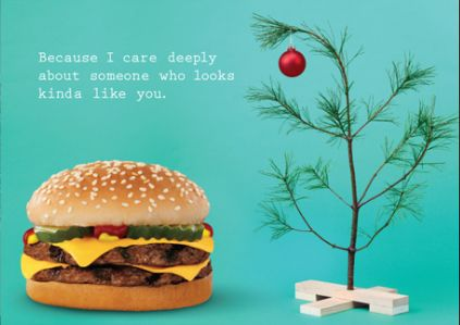 Burger King Holiday Card in all its glory