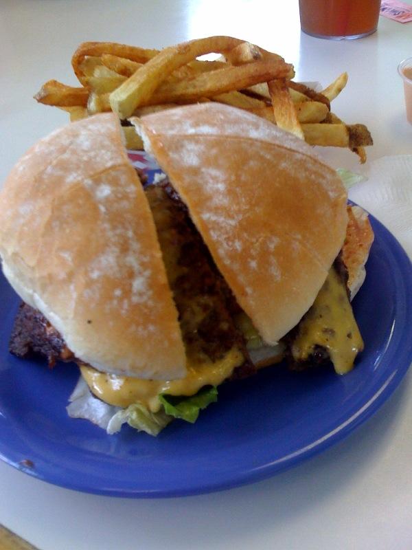 Hires Big H Cheeseburger
