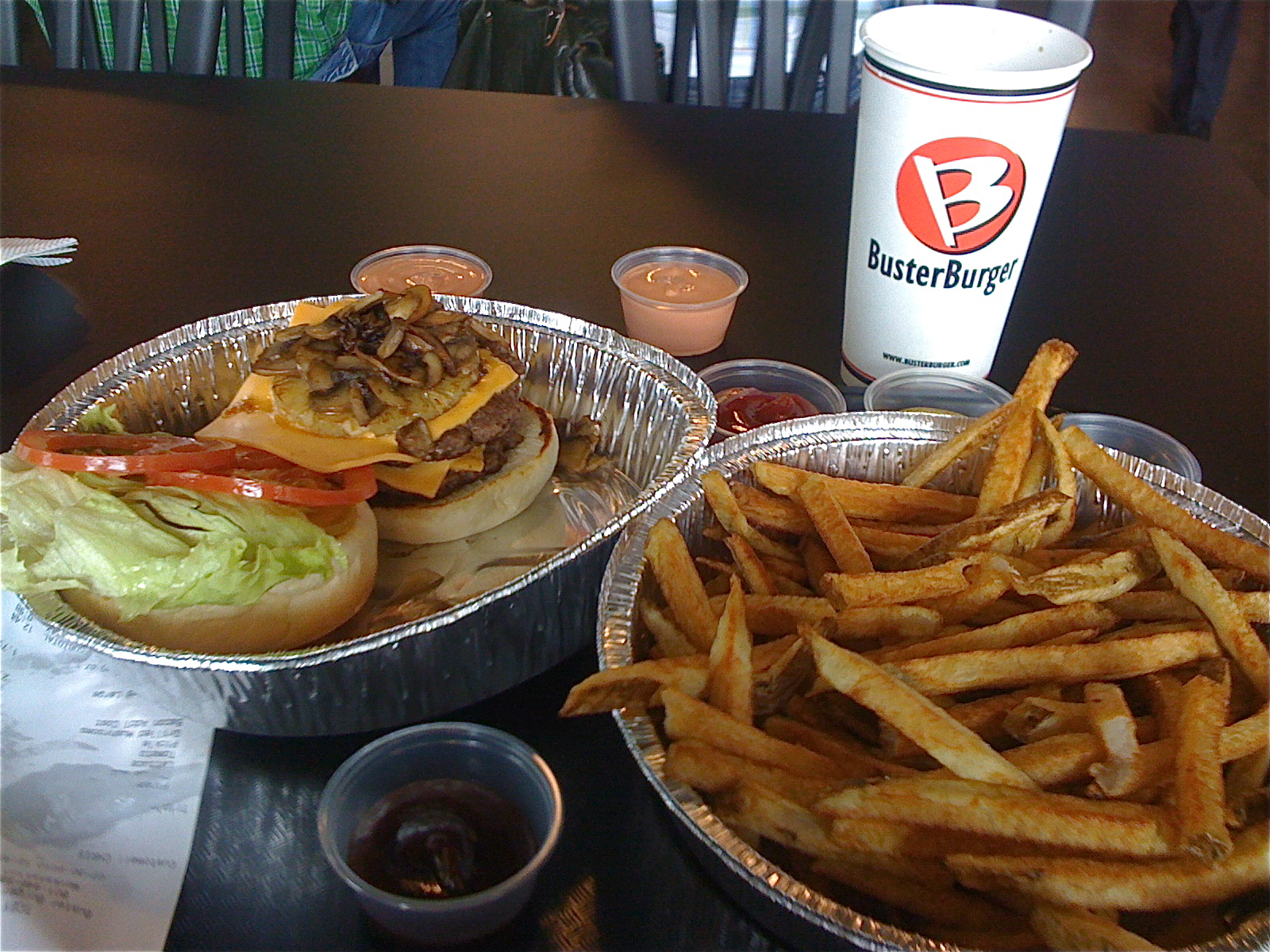 Triple Buster Buster Burger and Fries