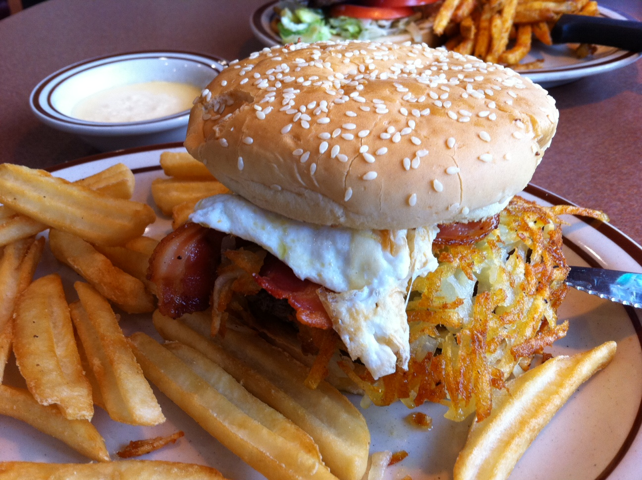 Denny's Bacon SlamBurger