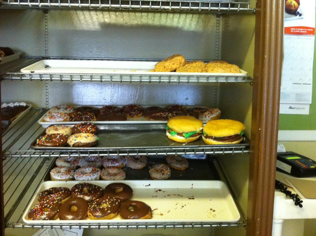 Lehi Baker Donut Burger Tray