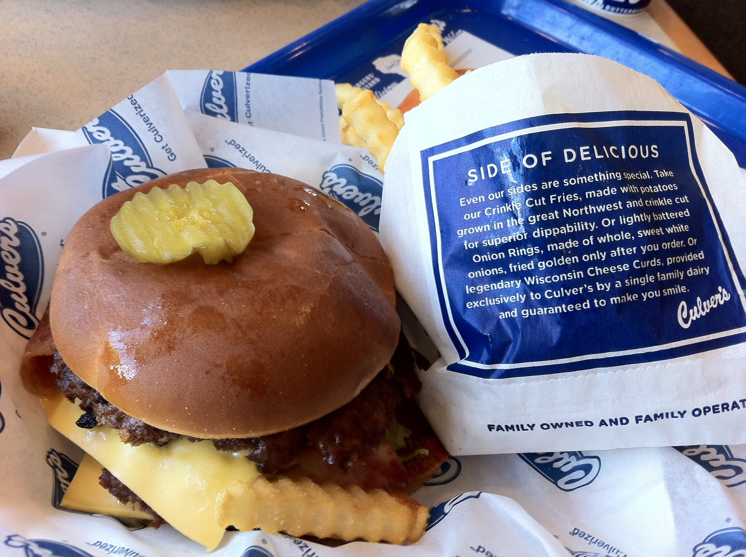 Culver's Utah Burger Meal