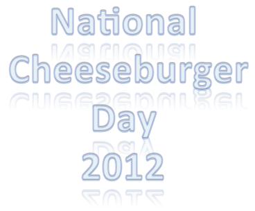 Happy National Cheeseburger Day 2012