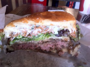 Inside the Houdini Burger at Cubby's in Provo