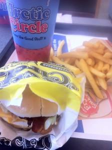Arctic Circle double cheeseburger meal