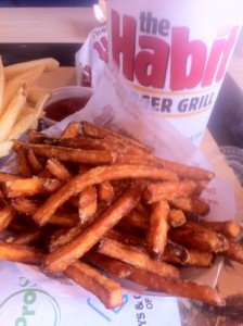 Sweet Potato Fries at The habit