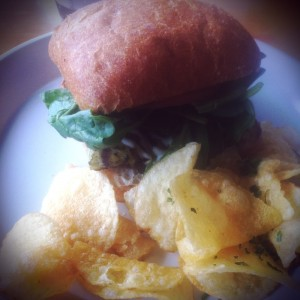 Blue Lemon Lime Citrus Cod Burger