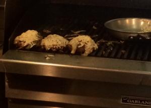 BV Burgers cooking