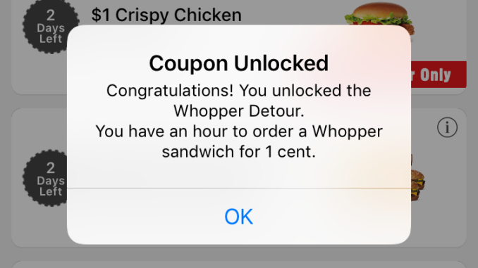 Whopper for a penny