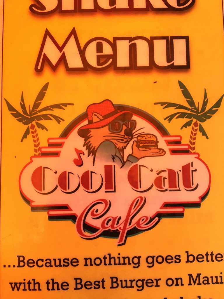 Cool Cat Cafe Maui Menu