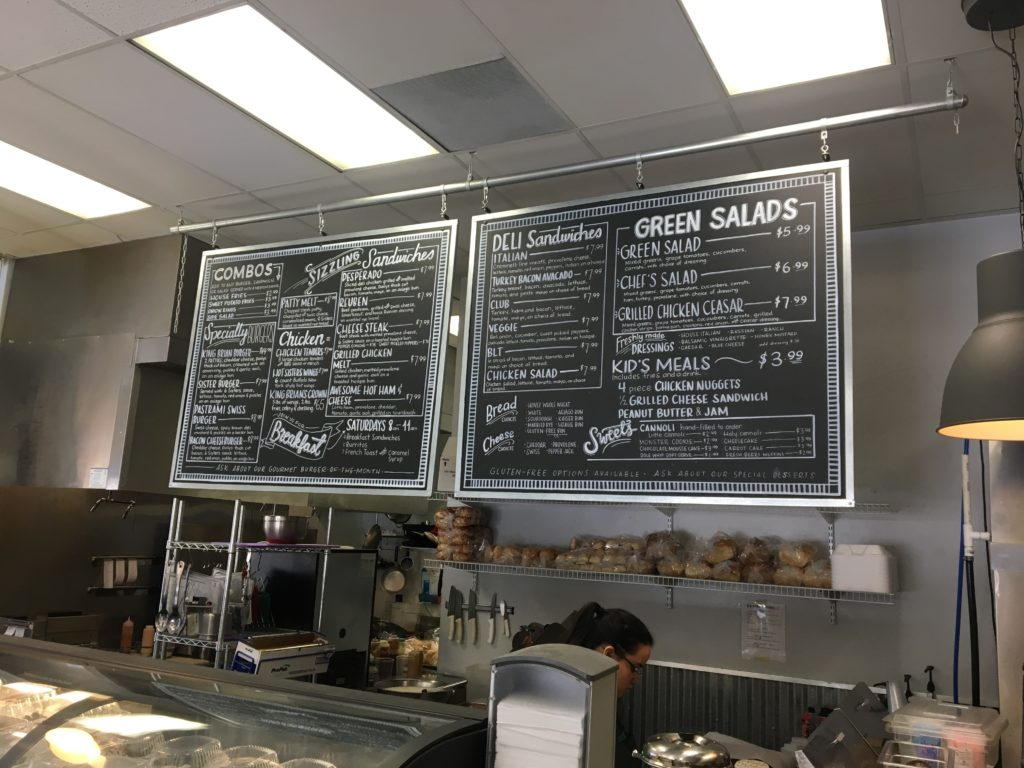 Six Sisters Deli Menu